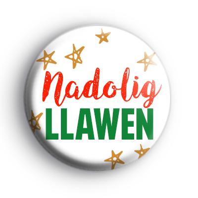 Nadolig Llawen Badge
