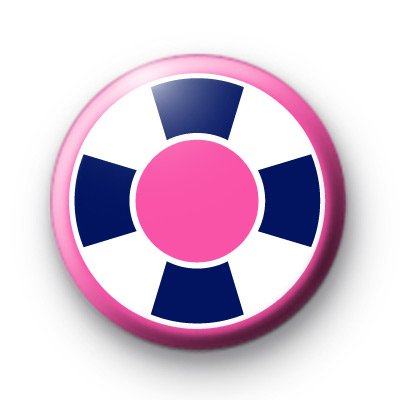 Pink and Blue Nautical Button Badges