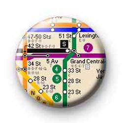 New York Subway 1 badges