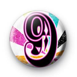 Number Nine 9 badges