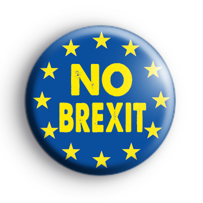NO Brexit Pro Europe Button Badge