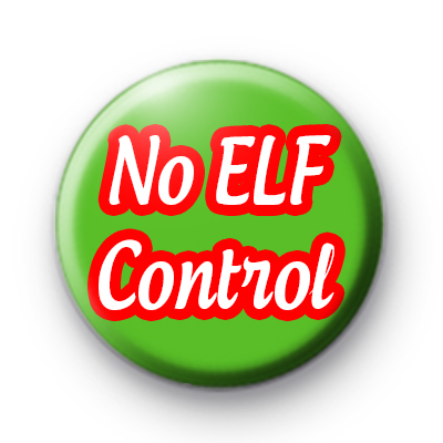 No ELF Control Button Badges