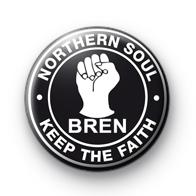Northern Soul Custom Name Badge