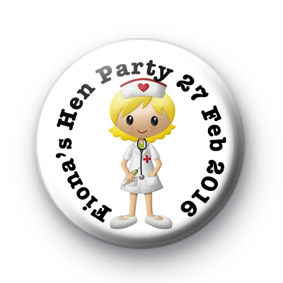 Nurses Hen Party Badge
