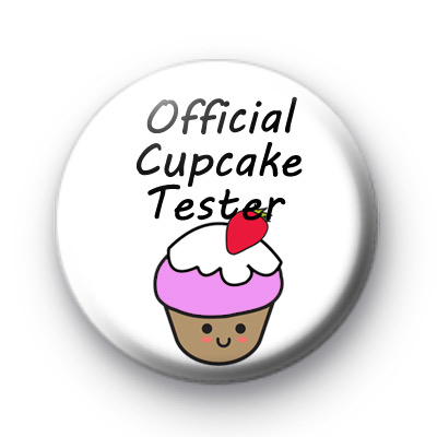 Official Cupcake Tester Badge
