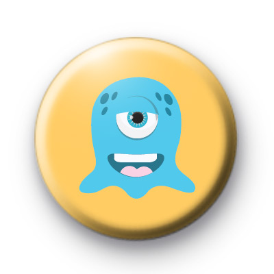 One Eyed Blue Monster Badges