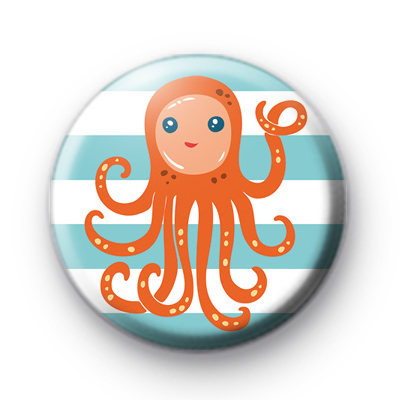 Orange Octopus Badge