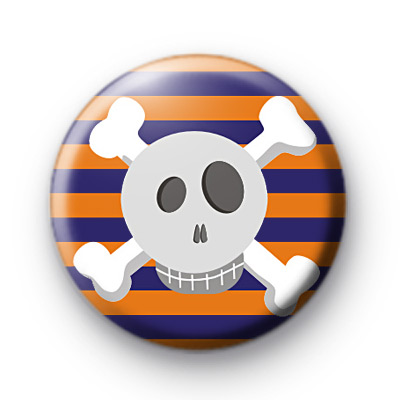 Orange and Purple Skull Badges