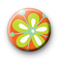 Orange Flower Badge