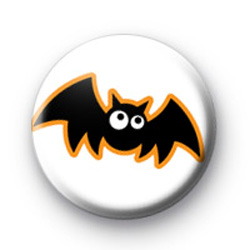 Flying Bat Halloween Button Badges