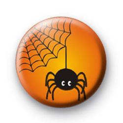 Orange Spooky Creepy Spider badge