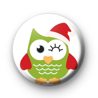 Festive Owl Wink Badges
