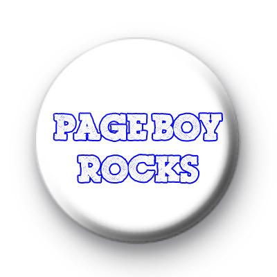 Page Boy Rocks Badge