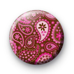 Paisley pattern badge