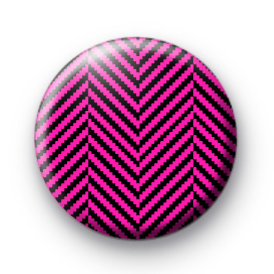 Bright Pink and Black Pattern Badge