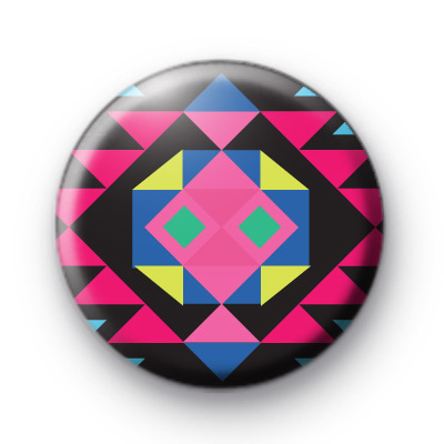 Bright Funky Native American Pattern badge
