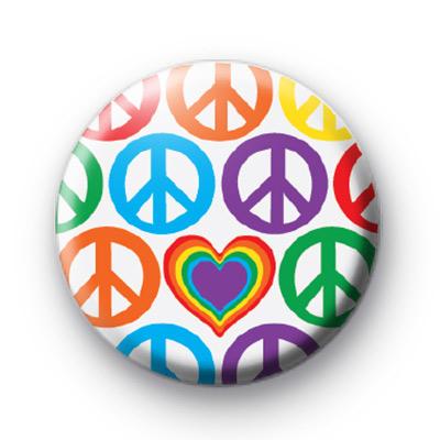 Peace Symbols And Love Badges Kool Badges 25mm Button Badges
