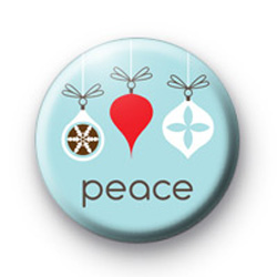 Peace Baubles Badge