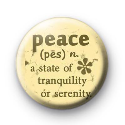 Peace Definition Badge