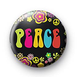 Peace cute badge