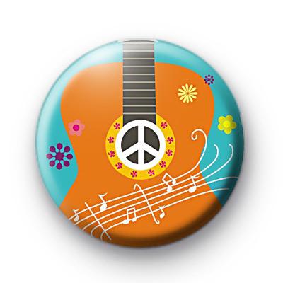 Cute Guitar Button Badge