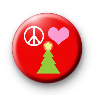 Peace Love Christmas Badges