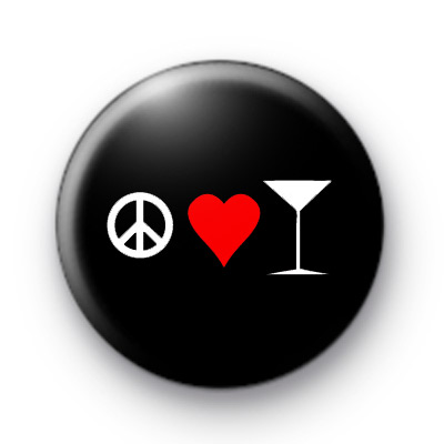 Peace Love Cocktails Badge