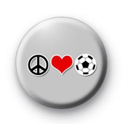 Peace Love Football Badges