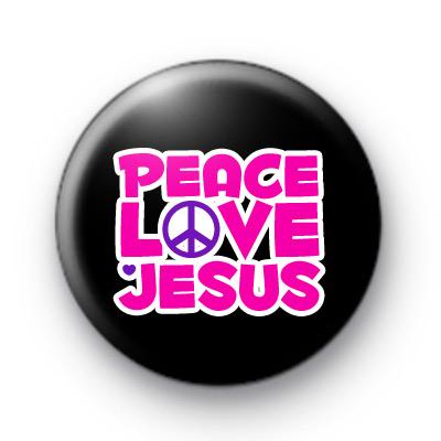 Peace Love Jesus Badge