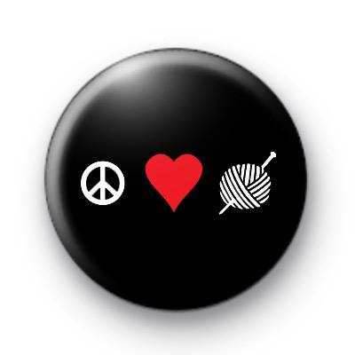 Peace Love Knitting 2 badge
