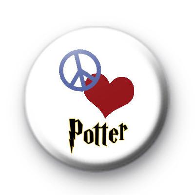 Peace Love Potter Button Badges