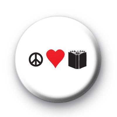 Peace Love Books Badge