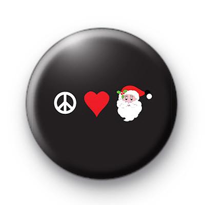 Peace Love Santa Badges
