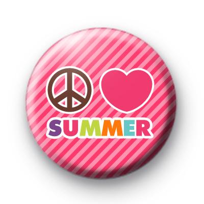 Peace Love Summer Button Badges