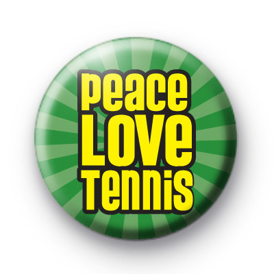 Peace Love Tennis Badge