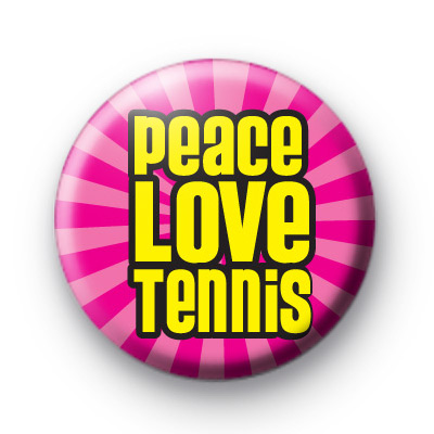 Pink Peace Love Tennis Badge