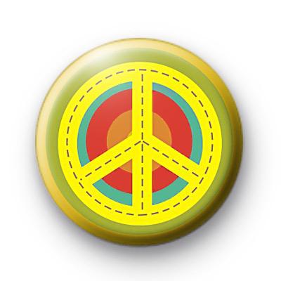 Peace Target Symbol Button Badges
