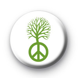 Peace Tree Green Badges