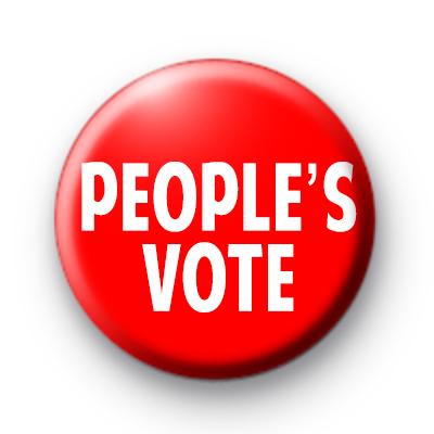People's Vote Badge