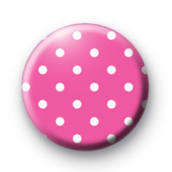 Pink Polka Dots Badge