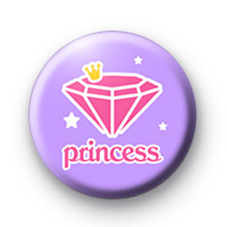 Princess Diamond Button Badges