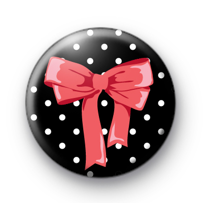 Pink Girly Bow Badge