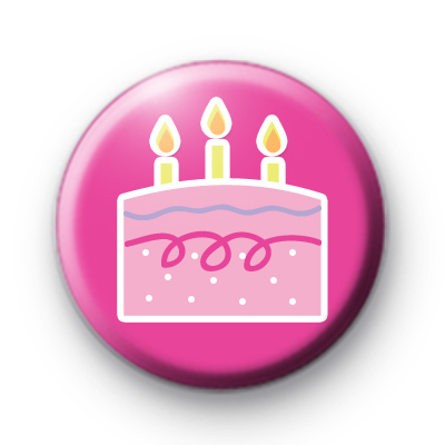 Birthday Cake and Candles Badge