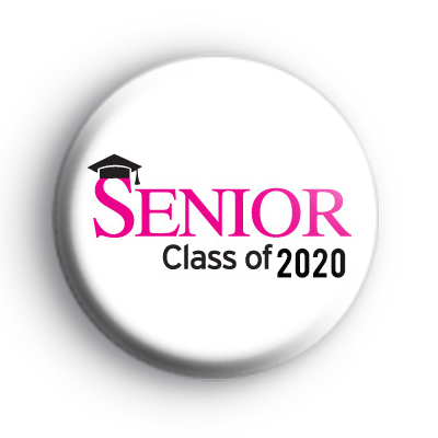 Pink and Black Senior Class of 2020 Badge