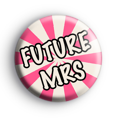 Pink and Cream Future Mrs Badge