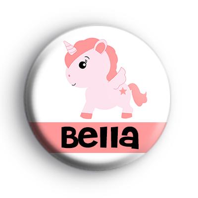 Custom Peach Unicorn Name Badge