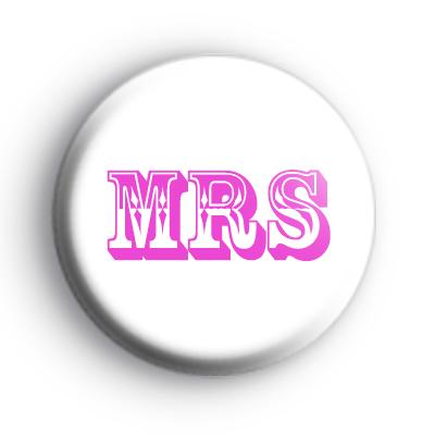 Mrs Title Button Badges