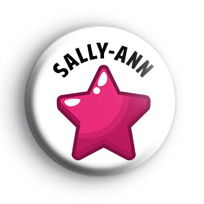 Pink Star Custom Name Badge