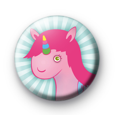 Cute Pink Unicorn Button Badges