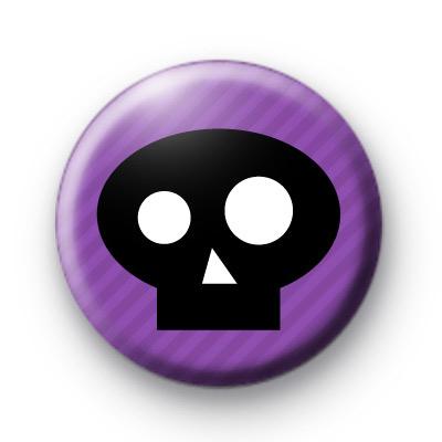 Purple and Black Skull Badge